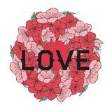 Rosa sakura di Ramki royalty illustrazione gratis