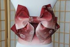 Rosa Sakura Obi Belt Bow Stockbilder