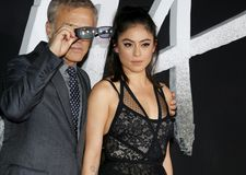Rosa Salazar and Christoph Waltz royalty free stock images