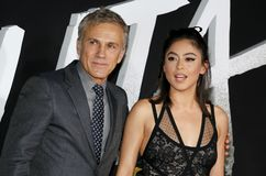 Rosa Salazar and Christoph Waltz royalty free stock photos