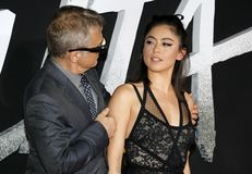 Rosa Salazar and Christoph Waltz stock images