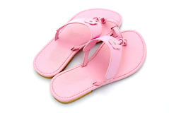 rosa sandals royaltyfria foton
