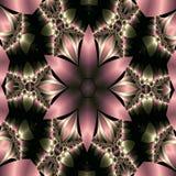 rosa satängstjärna för blomma royaltyfri illustrationer