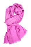 rosa scarf för kvinnlig Arkivbilder