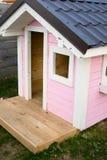 Rosa schönes Baby-Haus lizenzfreie stockfotos