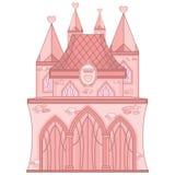 Rosa Schloss Stockfotos