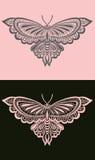 Rosa Schmetterling Stockfoto