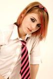 rosa schoolgirl arkivfoto