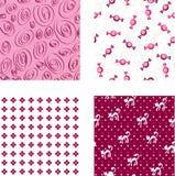 rosa seamless wallpapers vektor illustrationer