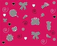 rosa seamless wallpapers för modeller vektor illustrationer