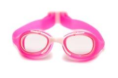 rosa simning för goggles arkivbild
