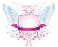 rosa sköldsquigglevektor Royaltyfri Bild
