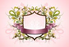rosa sköldvektor Fotografering för Bildbyråer