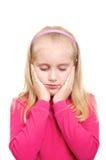 rosa skjorta för flicka Arkivbild