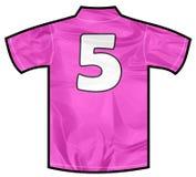 Rosa skjorta fem Fotografering för Bildbyråer