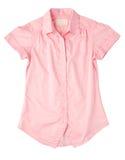 rosa skjortakvinna Arkivbild