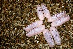 rosa sko Arkivbild
