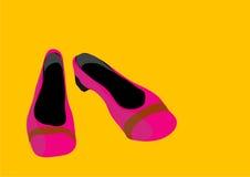 rosa skor Royaltyfri Foto