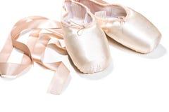 rosa skor för balett Fotografering för Bildbyråer