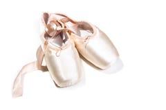rosa skor för balett Royaltyfri Bild
