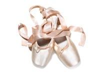 rosa skor för balett Royaltyfria Foton