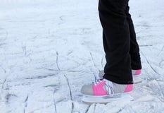 rosa skridskor för is Royaltyfri Fotografi