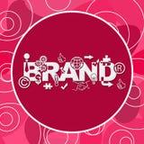 Rosa slumpmässig rund bakgrund för märke royaltyfri illustrationer