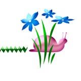 rosa snail för konst Arkivfoto