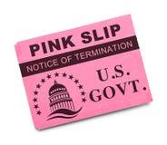 Rosa snedsteg för USA-regering arkivbild