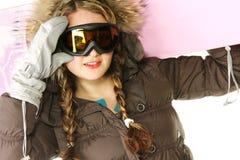 rosa snowboard för gir Arkivbild