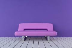 rosa sofa Arkivfoton