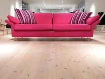 rosa sofa Arkivbilder