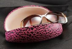 rosa solglasögon för fall Arkivfoton