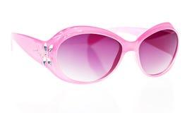 rosa solglasögon för kvinnlig arkivfoton