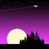 rosa solnedgång royaltyfri illustrationer