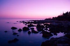 rosa solnedgång Royaltyfria Bilder