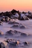 rosa solnedgång Royaltyfri Fotografi