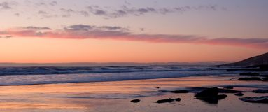 rosa solnedgång arkivbilder
