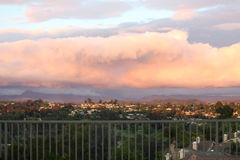 rosa solnedgång Royaltyfri Foto