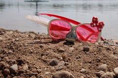 Rosa Sonnenbrille sendet an Lizenzfreie Stockfotos