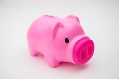 Rosa spargris för räddning dina pengar Arkivfoton