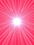 rosa starburst royaltyfri illustrationer