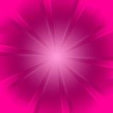 rosa starburst för bakgrund Arkivbild