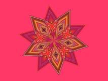 rosa stjärna Royaltyfri Bild