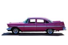 Rosa stor bil för klassisk modell från sidoproection, royaltyfria bilder