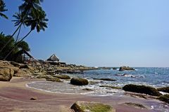 Rosa Strand in Sri Lanka Lizenzfreie Stockfotos