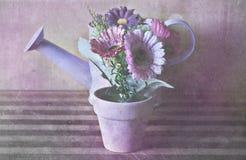 Rosa strukturierte Blumenzusammensetzung stockfotografie