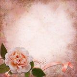 Rosa su un fondo d'annata Immagine Stock Libera da Diritti