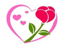 Rosa sul cuore 2 Fotografia Stock