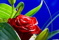 Rosa sull'azzurro Fotografia Stock Libera da Diritti